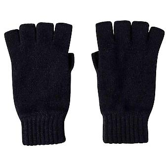Johnstons of Elgin Fingerless Gloves - Navy