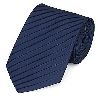 Schlips Krawatte Krawatten Binder 8cm dunkelblau schwarz gestreift Fabio Farini