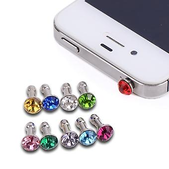 10x Fashion Sparkling Diamond Anti Dust Plug Earphone 3.5mm Earphone Jack Plug Stopper for Phones