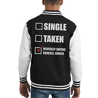 Mentally Dating Kendall Jenner Kid's Varsity Jacket