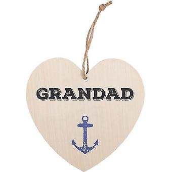 Something Different Grandad Hanging Heart Sign