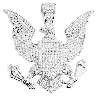 Premium Bling 925 sterling sølv store segl Eagle anheng
