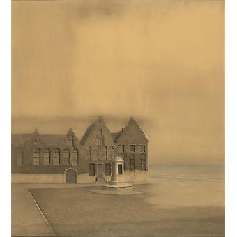 The Abandoned Town,Fernand Khnopff,76x69cm