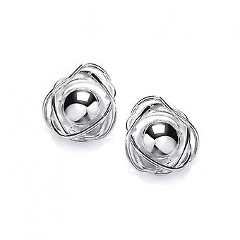 Cavendish French Silver Nested Ball Earrings
