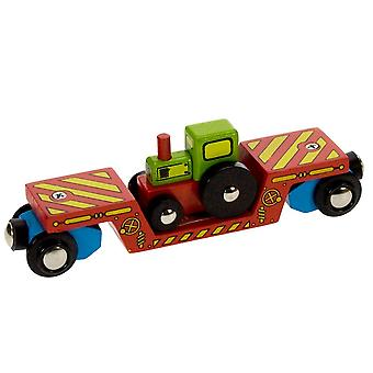 Bigjigs Wooden Railway Tractor Low Loader