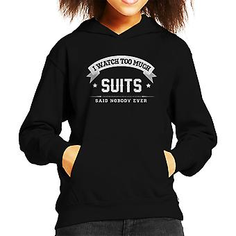 I Watch Too Much Suits Said Nobody Ever Kid's Hooded Sweatshirt