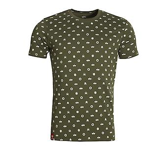 Alpha Industries All Over Print T-Shirt | Dark Olive