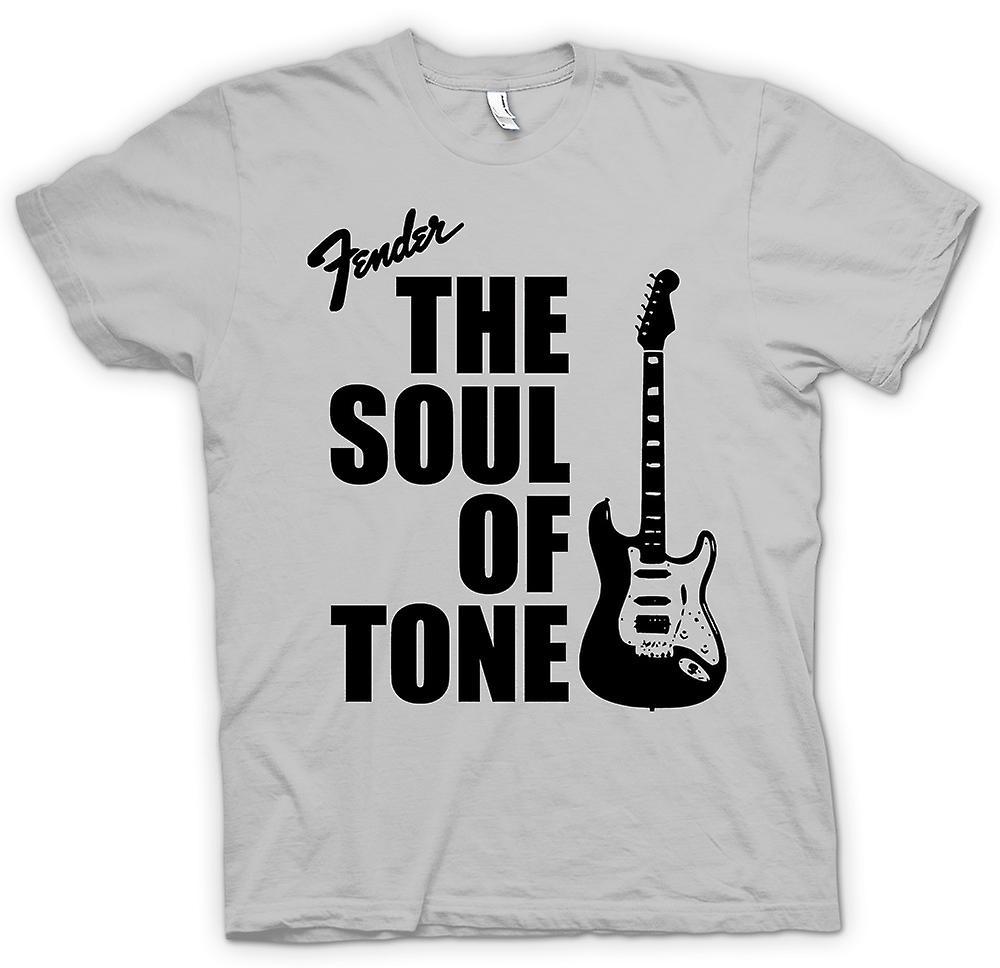 Mens t-skjorte-Fender Strat sjel Tone gitar