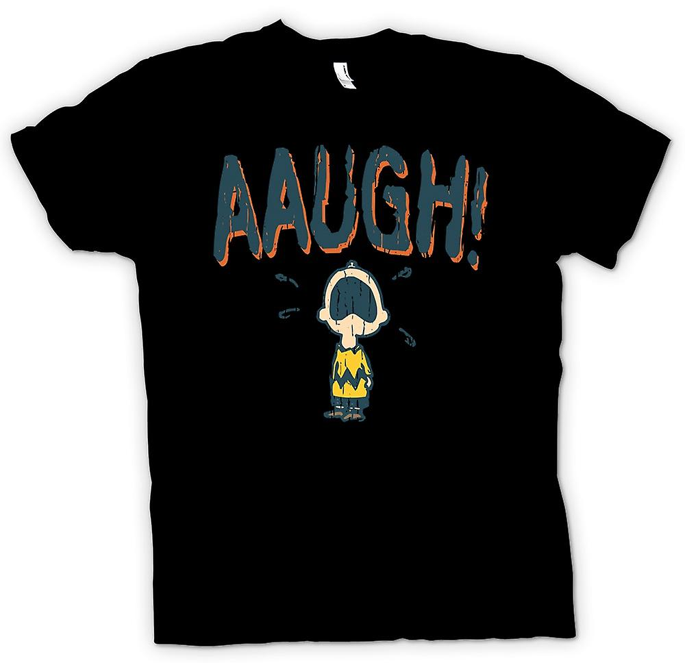 Mens T-shirt - Charlie Brown - AAUGH!