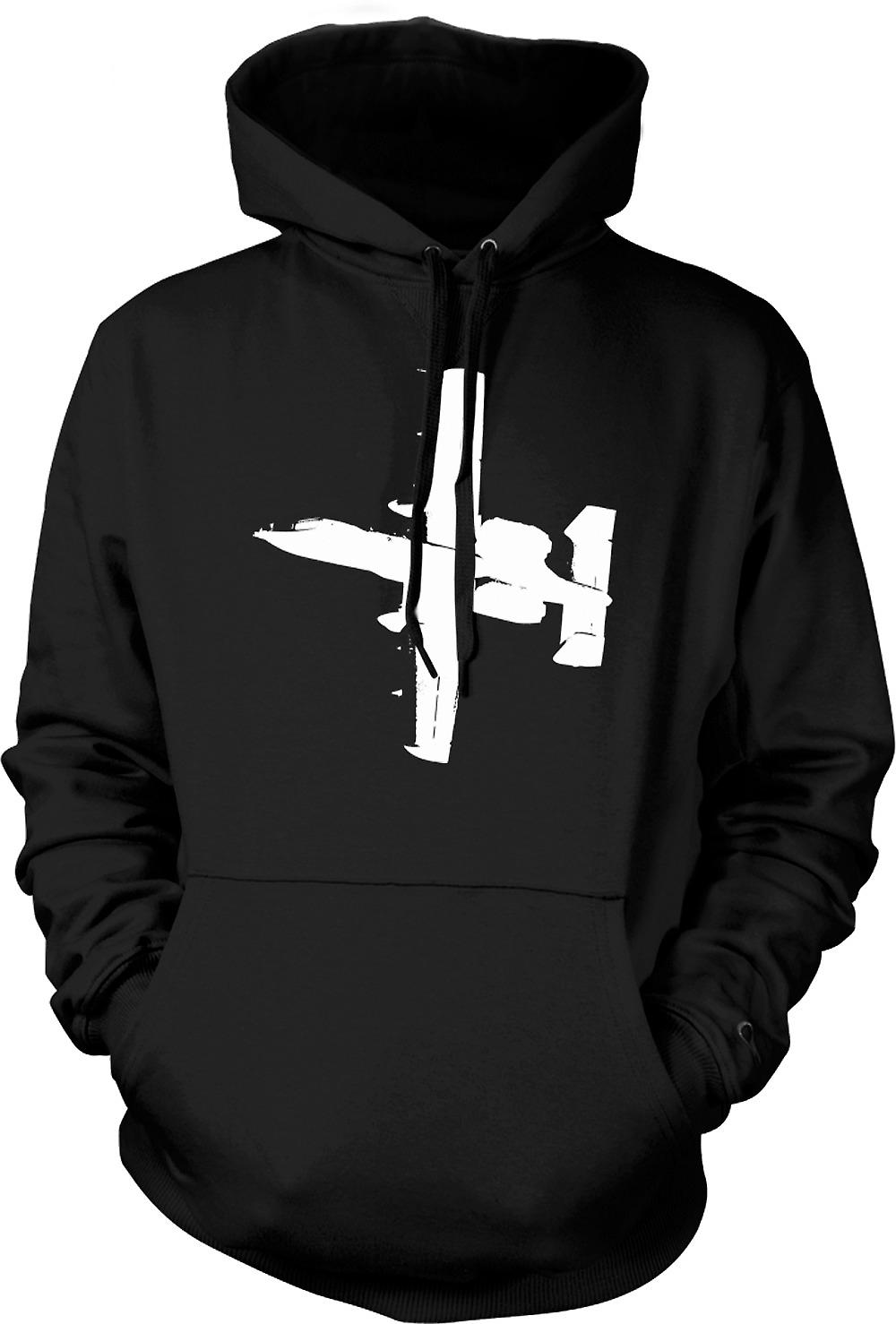 Mens Hoodie - A10 Thunderbolt Tank Buster - Awesome Fighter