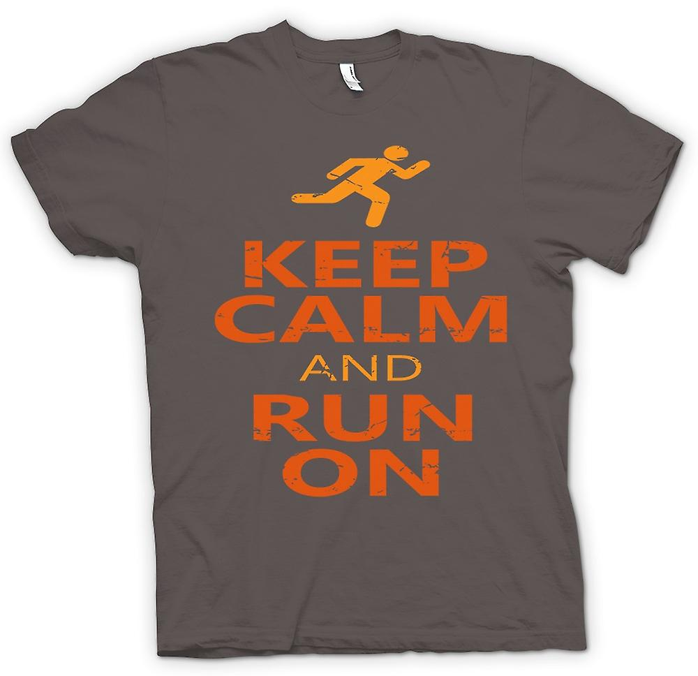 T-shirt-Keep Calm And Run On - Cool Running