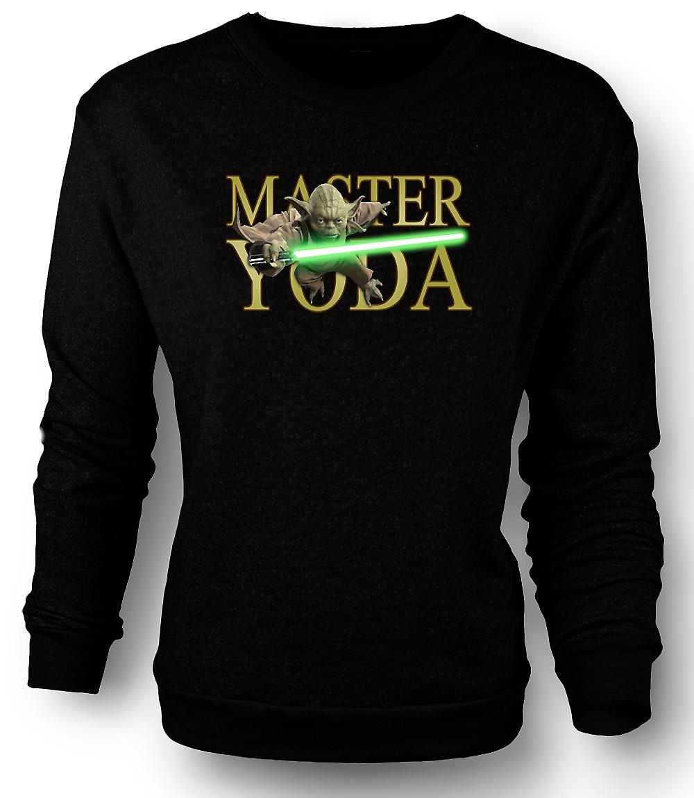 Mens Sweatshirt Master Yoda - Jedi - Star Wars - Movie