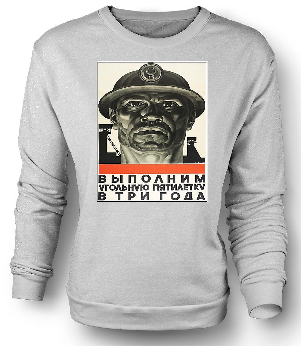 Mens Sweatshirt minatore russo Propaganda - Poster
