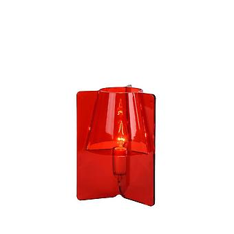 Lucide Tripli Retro Triangle Acrylic Red Table Lamp