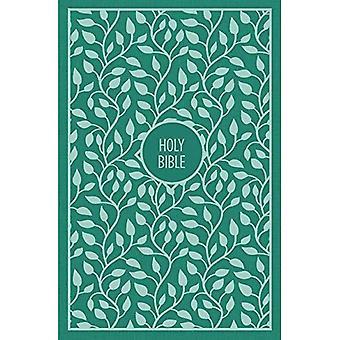KJV, Thinline Biblii, duży druk, tkaniny na pokładzie, zielony, czerwony list Edition, komfort drukowania (opr. twarda)