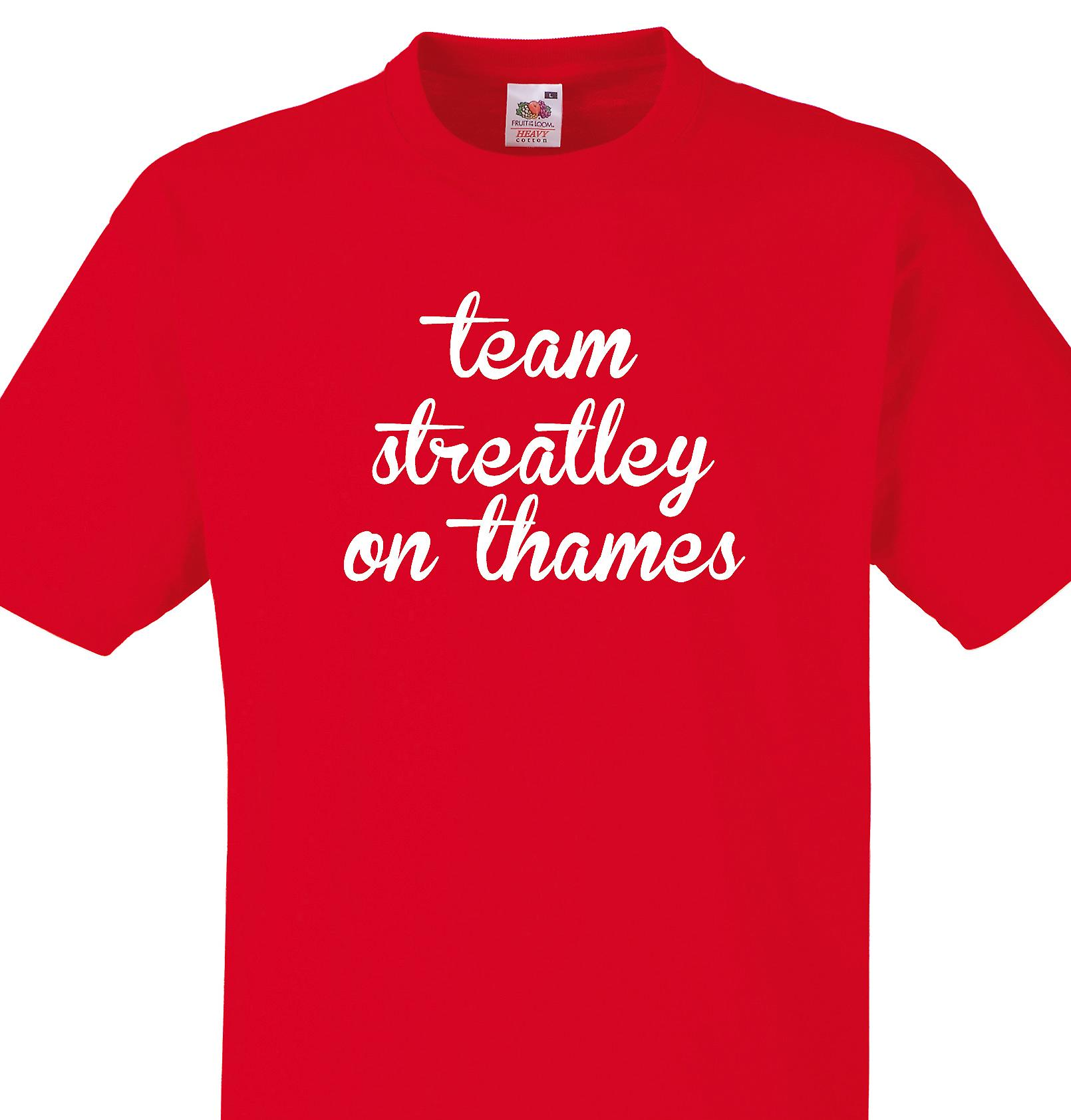 Team Streatley on thames Red T shirt