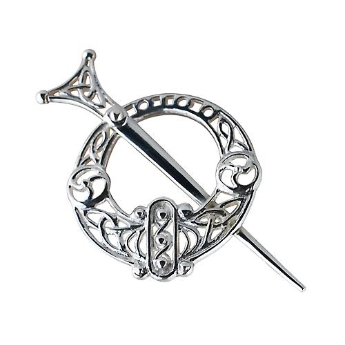 Argent 27mm filigrane Tara Broche