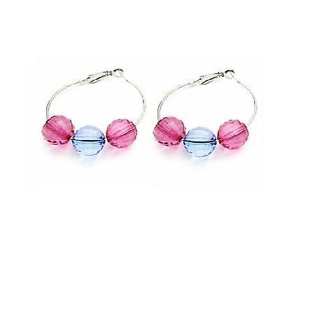 Gift Friend Jewelry Inexpensive Jewelry Glass Bead Hoop Earrings