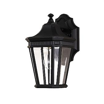 Cotswold Lane Outdoor  Small Wall Lantern Black - Elstead Lighting