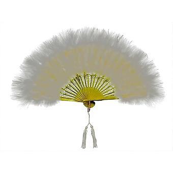 Fan Marabou Feather White