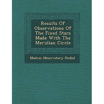 Results Of Observations Of The Fixed Stars Made With The Meridian Circle by India & Madras Observatory
