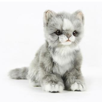 Hansa Jacquard Sitting Gray Kitten (19cm H)