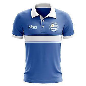Уругвай концепция полоса рубашка поло (синий)