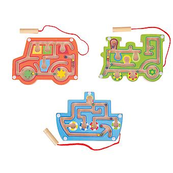 Bigjigs Toys Wooden Magnetic Labyrinth Game (Pack of 3)