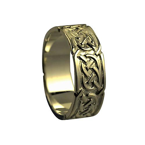 9ct Gold 8mm Celtic Wedding Ring Size Z+1