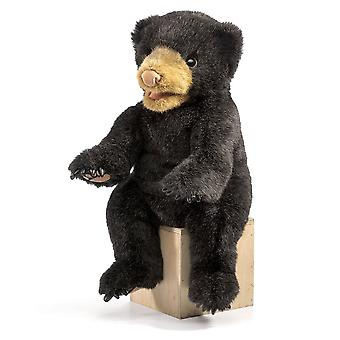 Hand Puppet - Folkmanis - Bear Black Cub New Animals Soft Doll Plush Toys 2831