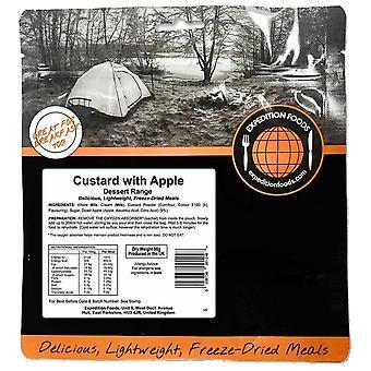 Expedition Foods zwarte custard met appels