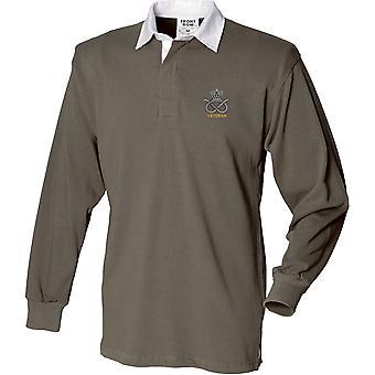 STAFFS_VET. PNG - Camisa de rugby de manga larga bordada con licencia del ejército británico