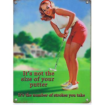 It's Not The Size Of Your Putter It's The Number... fridge magnet  (og)