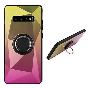 BackCover Ring / Magneet Aurora Samsung S10E Goud+Roze