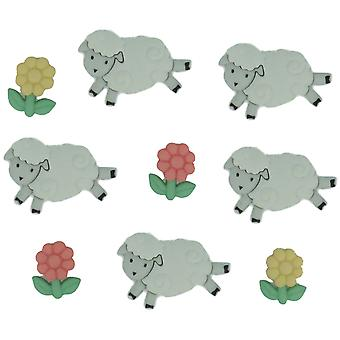 Dress It Up Embellishments Counting Sheep Diubtn 5798
