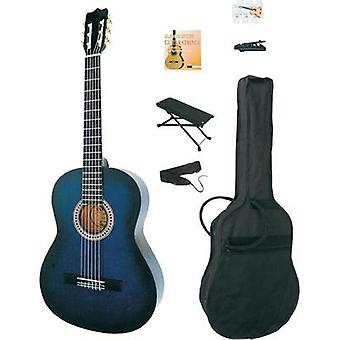 Classical guitar kit MSA Musikinstrumente CLASSIC-GITARRE 4/4, 39 BLUEBURST 4/4 Blue burst incl. gig bag