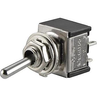 Toggle switch 250 Vac 3 A 2 x Off/On SCI TA201A1 latch 1 pc(s)