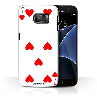 STUFF4 Case/Cover for Samsung Galaxy S7/G930/7 of Hearts/Playing Cards