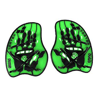 Arena Vortex Evolution Hand Paddle - Acid Lime/Black