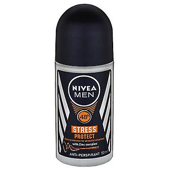 Nivea Deo Roll-On 50 Ml For Men Stress Protect (Mannen , Cosmetica , Body , Deodorant)