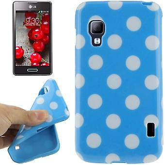 Protective case TPU points of case for mobile LG Optimus L5 II / E455