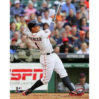 George Springer 2015 Action Photo Print