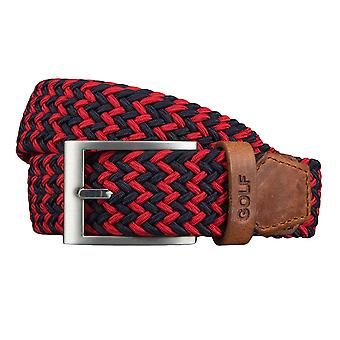 GOLF belts belts men's belts woven belt stretch belt Blau / red 3488