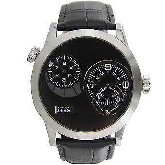 ESPRIT mens watch wristwatch Zelos night leather EL101271F01
