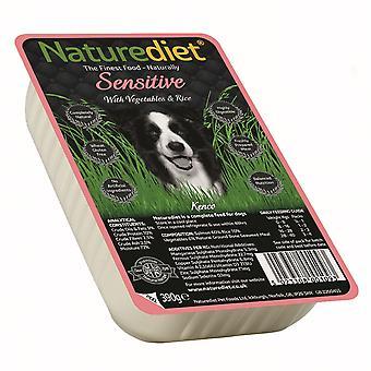 Naturediet følsomme laks & rejer med grøntsager & ris 390g (pakke med 18)
