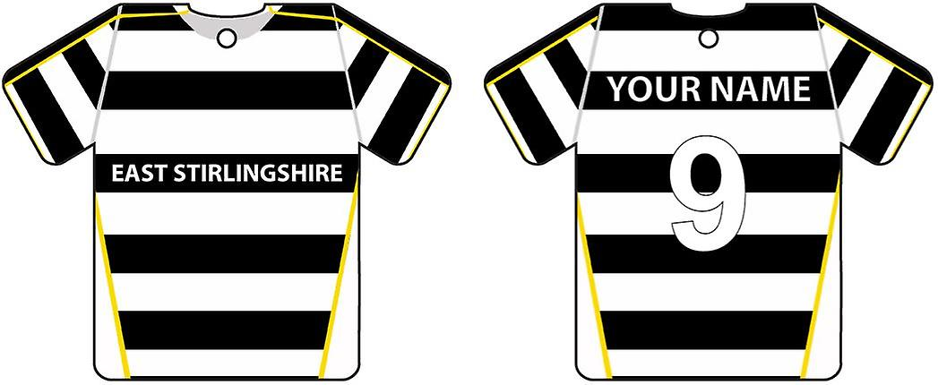 Personalised East Stirlingshire Football Shirt Car Air Freshener