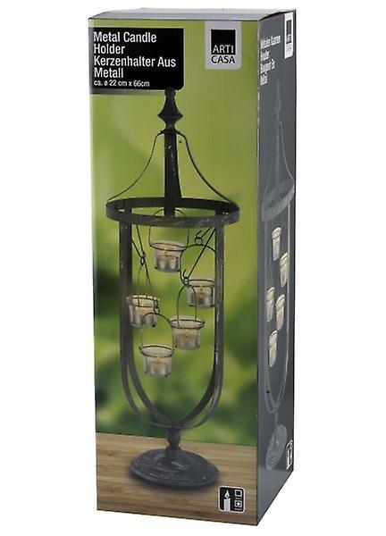 Metal Tealight Holder for 5 Tea Lights Candles Black Home Decoration