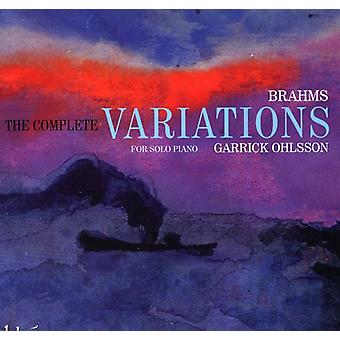 J. Brahms - Brahms: The komplett variationer för Solo Piano [CD] USA import