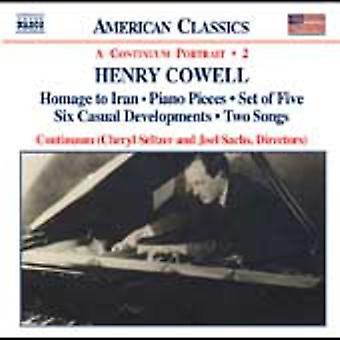 H. cowell - Henry Cowell: Instrumental, kammer- og vokalmusik, Vol. 2 [CD] USA import