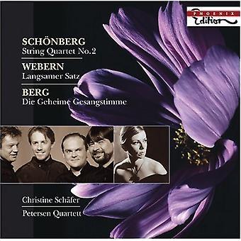 Schönberg/Webern/Berg - Sch Nberg: Streichquartett Nr. 2; Webern sen Satz; Berg: Die Geheime Gesangstimme [CD] USA importerer